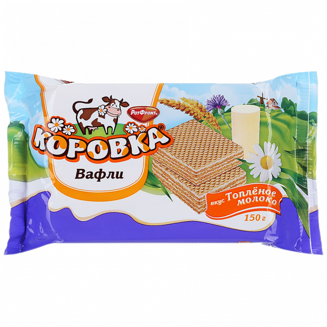 "Glazed wafers ""Korovka (Little Cow) - Taste Baked Milk"""
