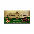 "Dark chocolate ""Babaevskiy with Hazelnut"""