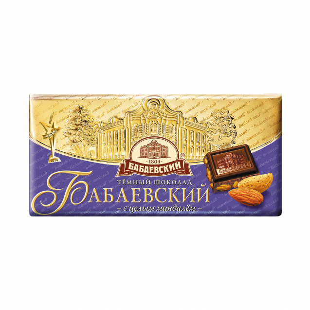 "Dark chocolate ""Babaevskiy with Whole Almond"""
