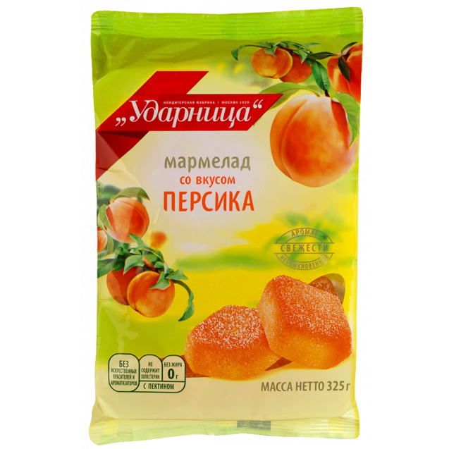 Marmalade with taste of peach (pack)