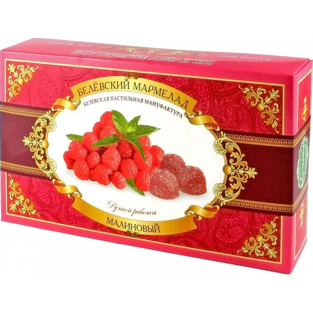 "Belevskiy marmalade ""Raspberries"" - hand made (box)"