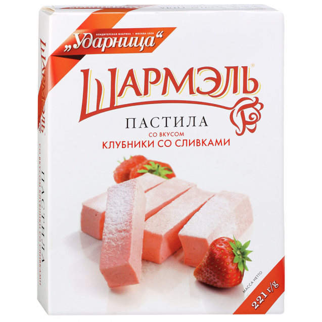"Marshmallow ""Charmel with Strawberry Taste with Cream"" (box)"